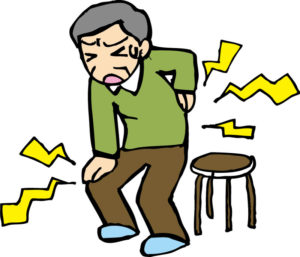 座骨神経痛の老人
