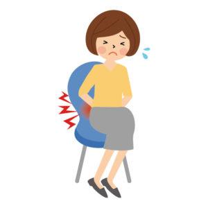 腰痛症の女性